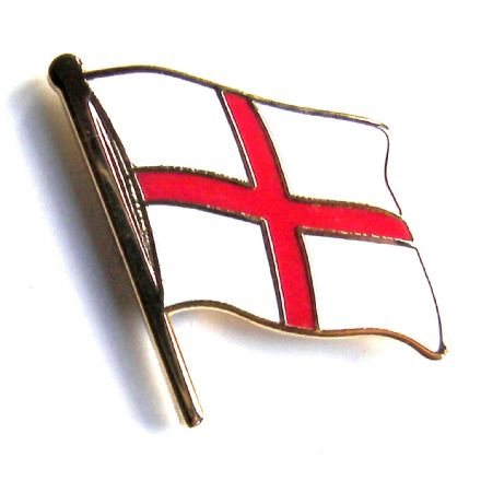 Cross of St George Flag England Lapel Badge